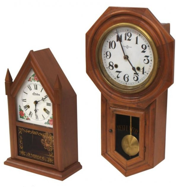 2 Regulator Wall Clock Amp Linden Shelf Clock Lot 359