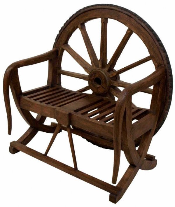 Rustic Benches With Steel Wheels : Antique metal rustic wagon wheels images