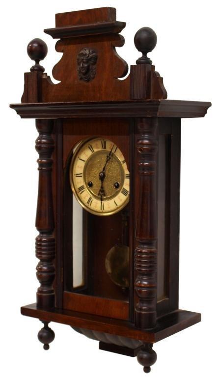 ANTIQUE GERMAN WALL CLOCK, JUNGHANS : Lot 704
