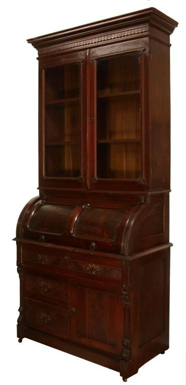 Chittenden Eastman Iowa Cylinder Roll Bookcase Lot 831