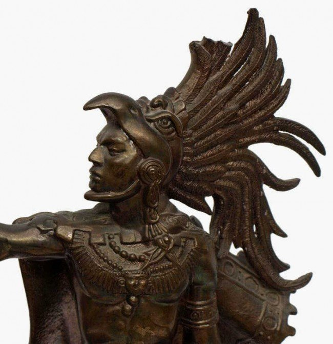 aztec warrior statue  eBay