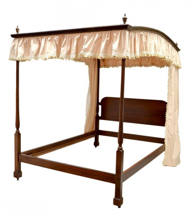 canopy bed linens curtains