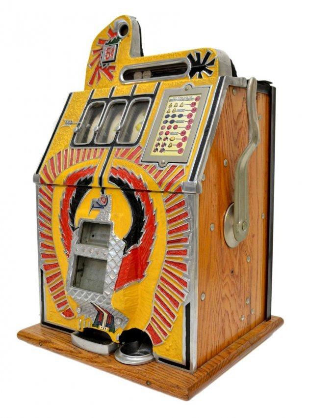 antique mills 5 cent slot machines
