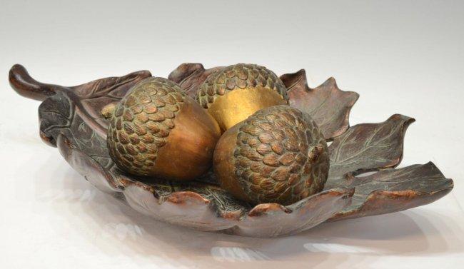 279 large decorative oak leaf amp acorn centerpiece lot 279