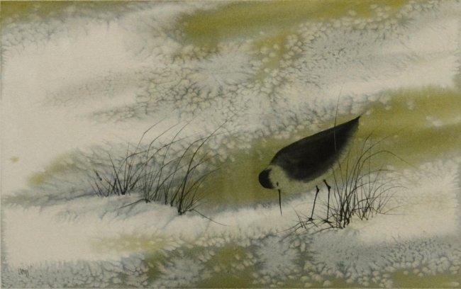 805 Watercolor Painting Fran Larsen B 1937 Lot 805