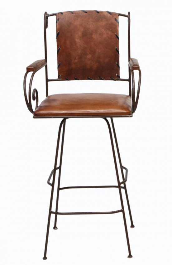 126 3 LEATHER amp WROUGHT IRON BAR STOOLS Lot 126 : 144888723l from www.liveauctioneers.com size 552 x 850 jpeg 38kB
