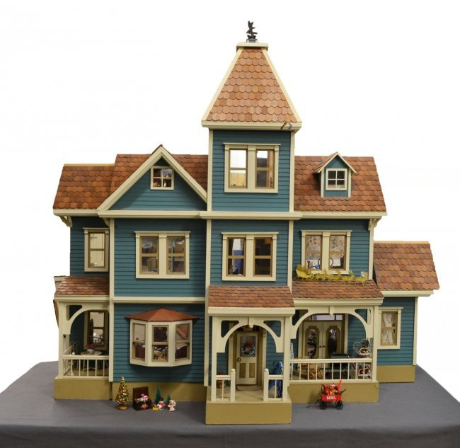 113 monumental victorian style 3 story doll house lot 113 for 3 story victorian house