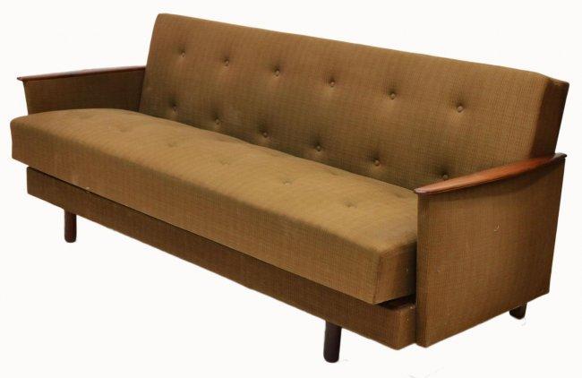 danish mid century modern teakwood sofa bed lot 35