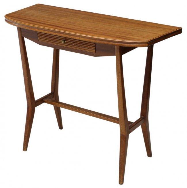 Mid Century Modern Console Table: ITALIAN MID-CENTURY MODERN CONSOLE TABLE : Lot 512