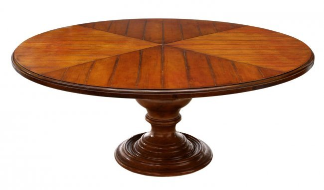 Large Round Pedestal Base Dining Table 72 D Lot 87
