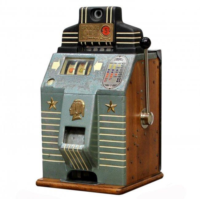 indian chief 5 cent slot machine
