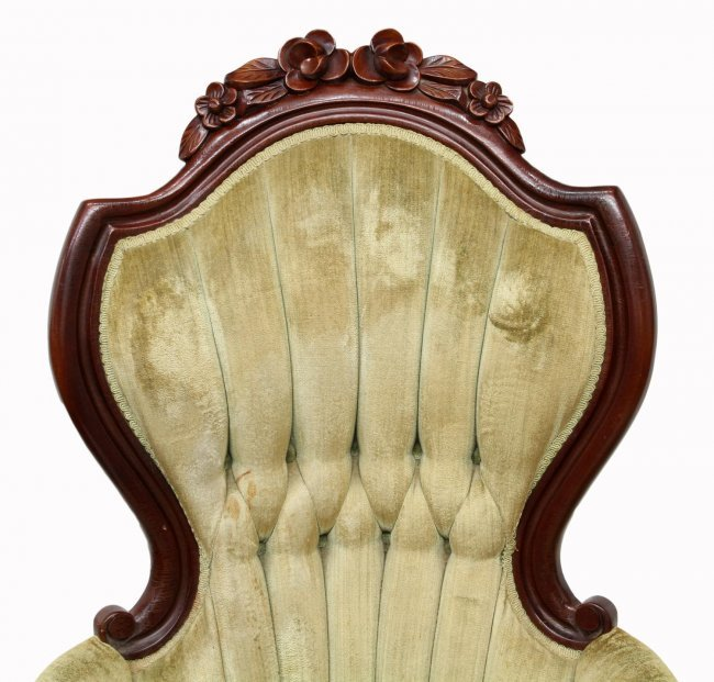 Victorian style arm chairs lot