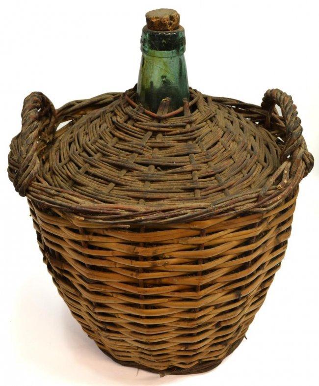Vintage wine basket bottle consider, that
