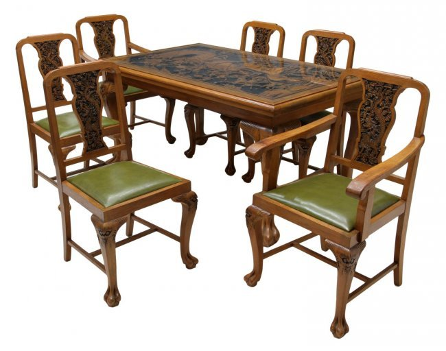 Carved Dining Table And Chairs Highly Carved Dining