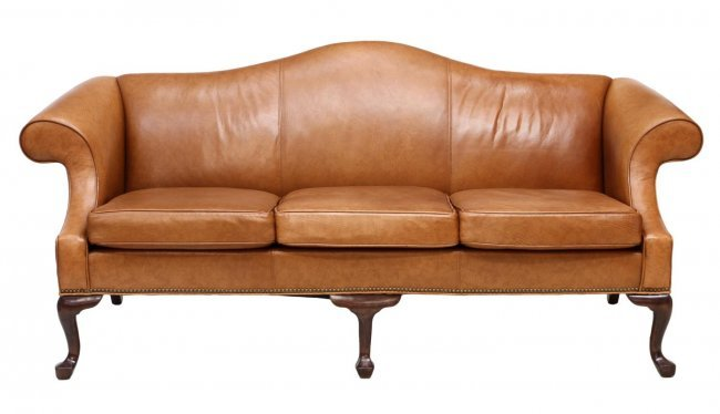 ETHAN ALLEN CAMEL BACK LEATHER SOFA Lot 356 : 200575412l from www.liveauctioneers.com size 650 x 374 jpeg 28kB