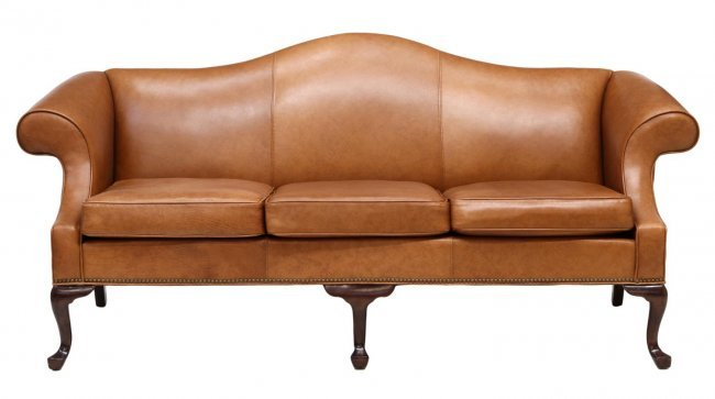 ETHAN ALLEN CAMEL BACK LEATHER SOFA Lot 360 : 200575492l from liveauctioneers.com size 650 x 363 jpeg 26kB