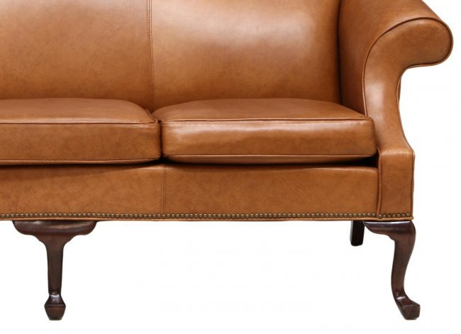 ETHAN ALLEN CAMEL BACK LEATHER SOFA Lot 360 : 200575493l from liveauctioneers.com size 650 x 471 jpeg 34kB