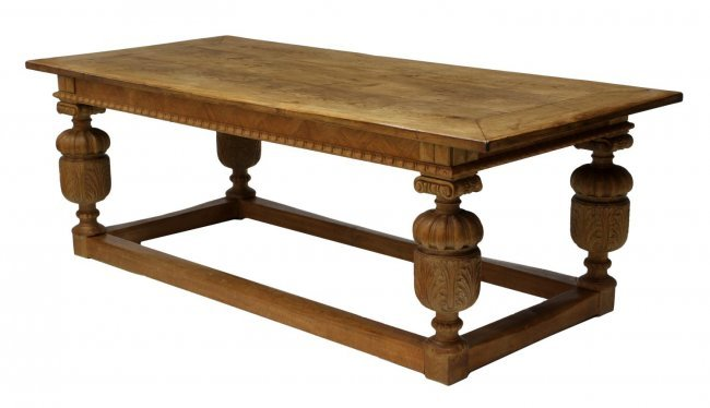 Danish oak refectory table lot 850 for Table 850 unitekno