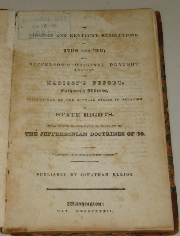 virginia and kentucky resolutions Kentucky and virginia resolutions, in us history, resolutions passed in  opposition to the alien and sedition acts , which were enacted by the federalists  in.