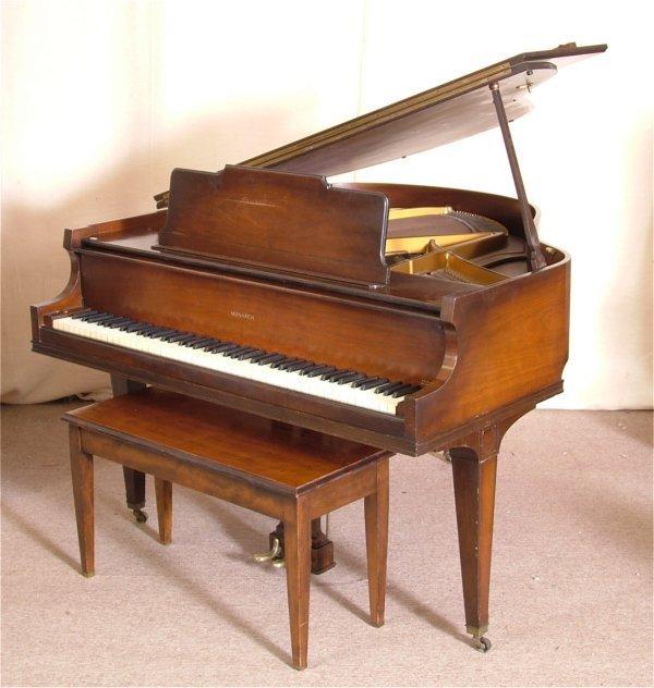 7301 Baldwin Monarch Mahogany Baby Grand Piano W Bench