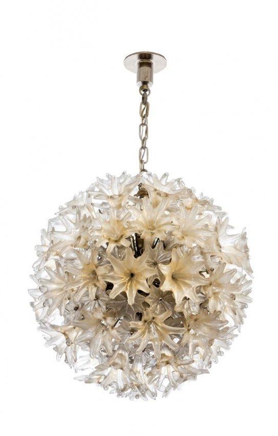 lampadari venini : VENINI Esprit Grande lampada a sospensione di forma : Lot 672
