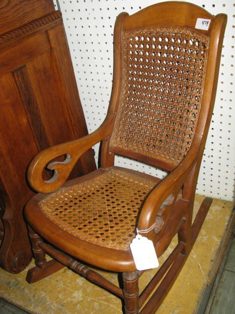 112 Child S Rocking Chair Cane Back Seat Lot 112
