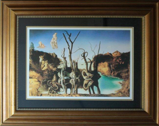 Salvador Dali Swans Reflecting Elephants : Lot 554