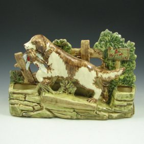 296 Mccoy Pottery Quot No Hunting Quot Planter W Dog Mint
