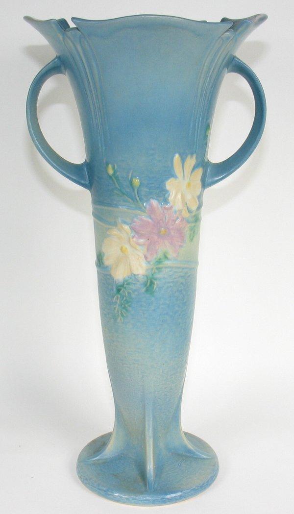 blue floor vase