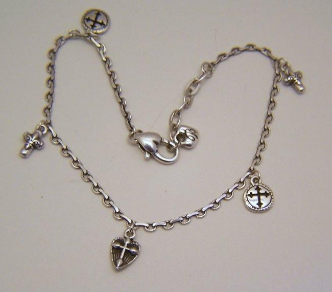 brighton sterling silver charm bracelet lot 188