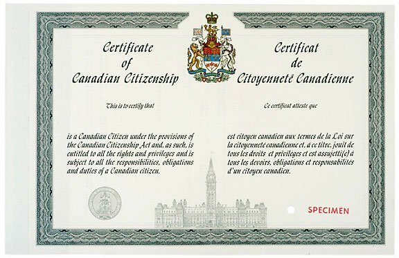 how to change name on citizenship certificate canada