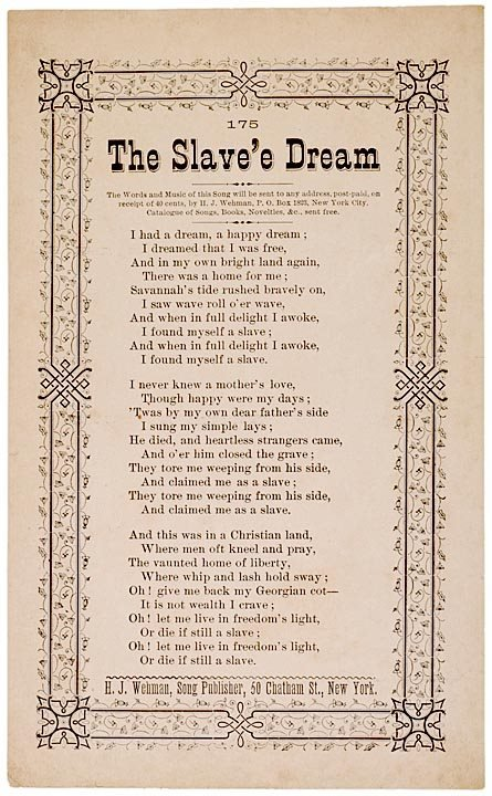 slaves dream The role of the shoe in the bible vol 35, no 1, 2007 43 the man who is not prepared, where law and circumstances permit, to build up his brother's house must himself, shoeless, forfeit po.