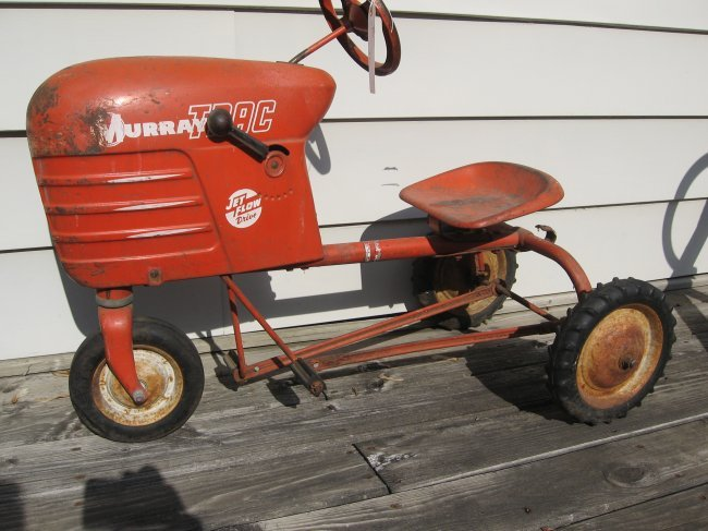 Murray Pedal Tractor Restoration : Murraytrac jetflow drive pedal tractor lot