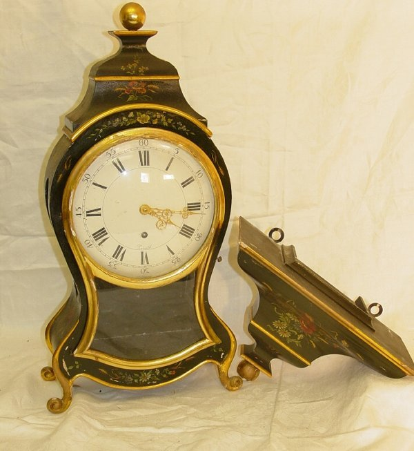 Black Lacquer Mantel Clock Zenith Swiss Antique Clocks