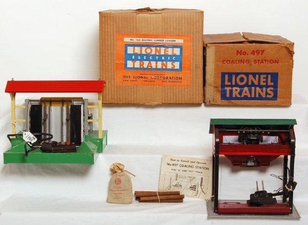 1194 lionel 164 log loader 497 coaling station in ob. Black Bedroom Furniture Sets. Home Design Ideas