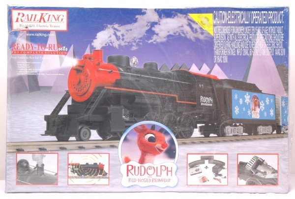 Miniature railroad accessories, mth rudolph the red-nosed