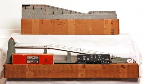 609 lionel 364 lumber loader 456 coal ramp in ob lot 609. Black Bedroom Furniture Sets. Home Design Ideas