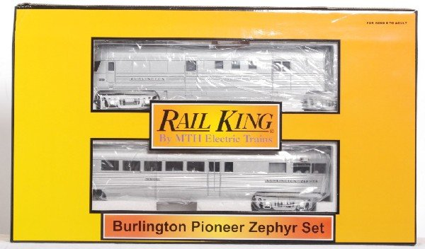 125 Railking Burlington Pioneer Zephyr Lot 125