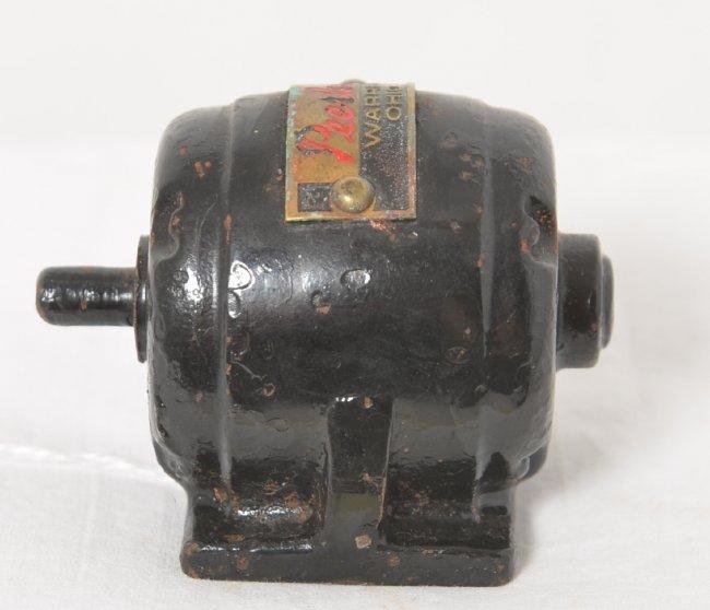 peerless cast iron electric motor paperweight warren lot 523