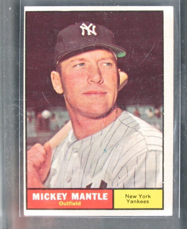 Baseball Card Mickey Mantle King Of New York Pizza Los Angeles