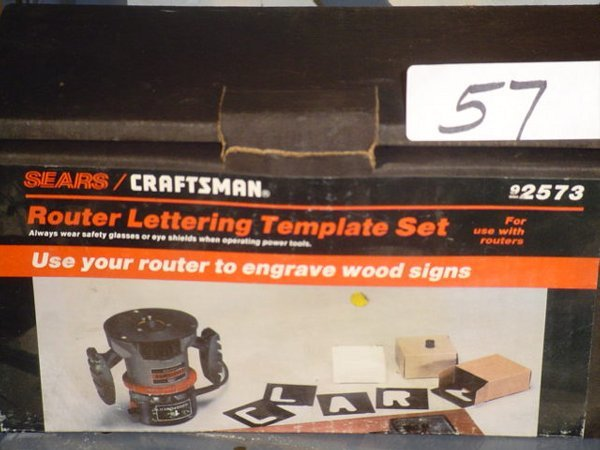 57 craftsman 92573 router lettering template lot 57 for Router lettering templates