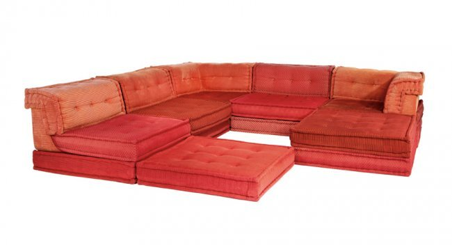 Hans hopfer mah jong modular sofa 6 lot 288 for Mah jong modular sofa replica