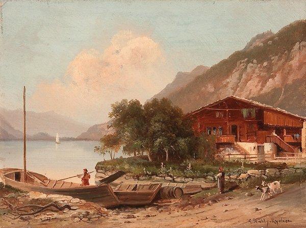 706 Painting By Hubert Sattler Austrian 1817 1904 Lot 706