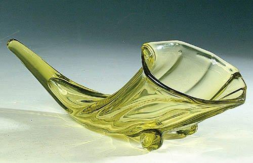 Bull Horn Glass Vase