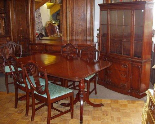 83 mahogany duncan phyfe dining room set lot 83