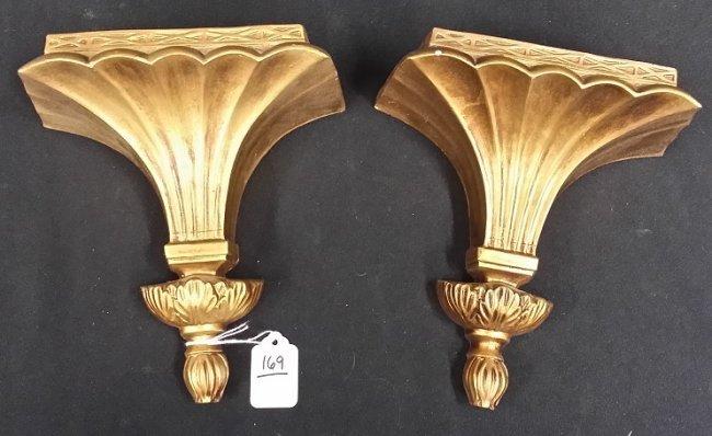 Antique Ceramic Wall Sconces : Pair of Vintage Porcelain Wall Sconces : Lot 169