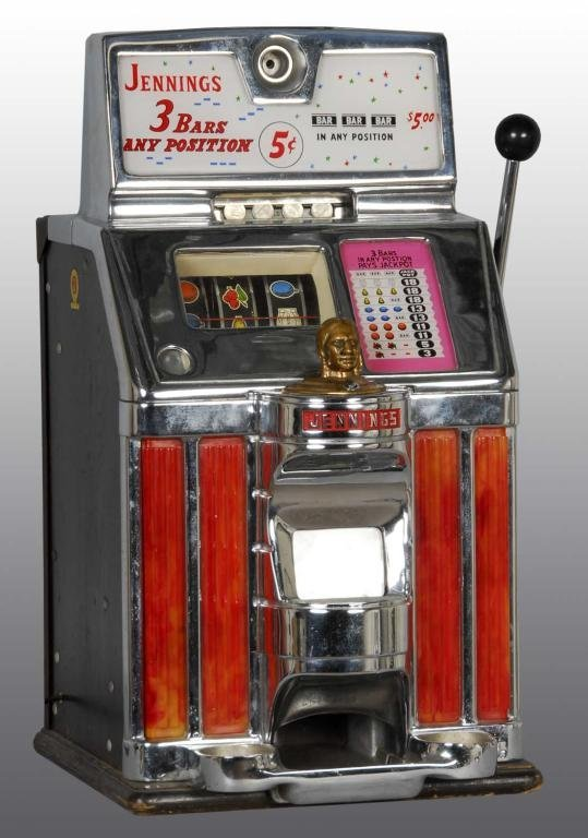 jennings indian chief 5 cent slot machines