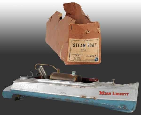 """1634: """"Miss Liberty"""" No. 2520 Steam Boat Toy. : Lot 1634"""