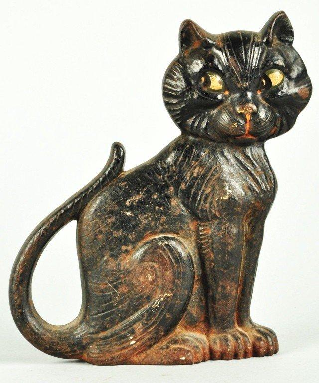 299 cast iron sitting cat doorstop - Cast iron cat doorstop ...