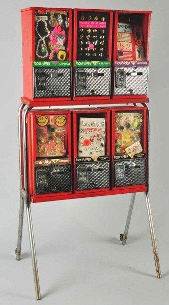 Toy N Joy Machine : Coin operated toy joy vending machine lot
